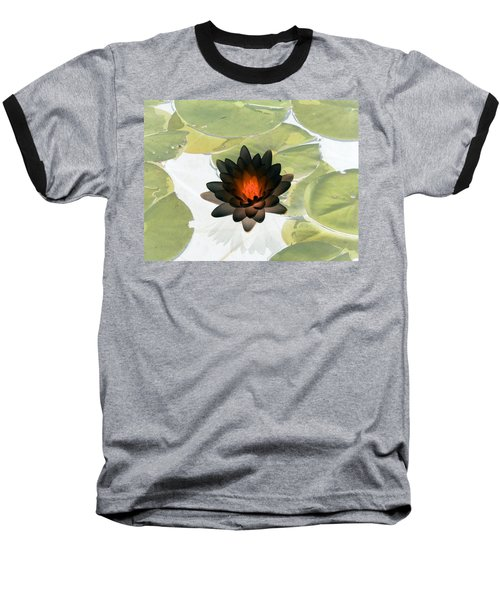 Baseball T-Shirt featuring the photograph The Water Lilies Collection - Photopower 1034 by Pamela Critchlow