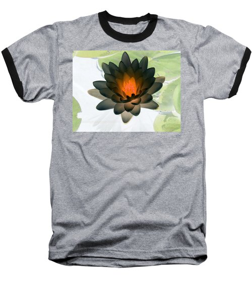 Baseball T-Shirt featuring the photograph The Water Lilies Collection - Photopower 1035 by Pamela Critchlow