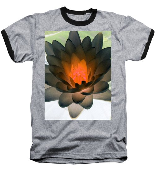 Baseball T-Shirt featuring the photograph The Water Lilies Collection - Photopower 1036 by Pamela Critchlow
