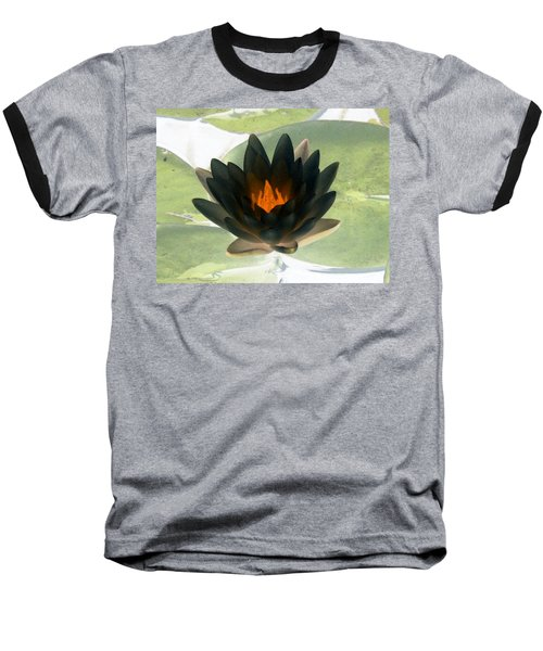 Baseball T-Shirt featuring the photograph The Water Lilies Collection - Photopower 1037 by Pamela Critchlow