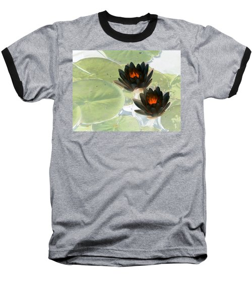 Baseball T-Shirt featuring the photograph The Water Lilies Collection - Photopower 1039 by Pamela Critchlow