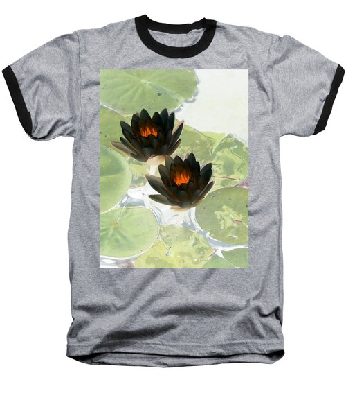 Baseball T-Shirt featuring the photograph The Water Lilies Collection - Photopower 1040 by Pamela Critchlow