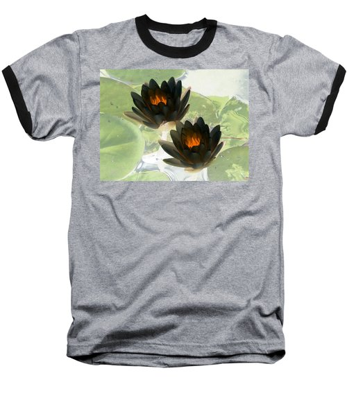 Baseball T-Shirt featuring the photograph The Water Lilies Collection - Photopower 1041 by Pamela Critchlow