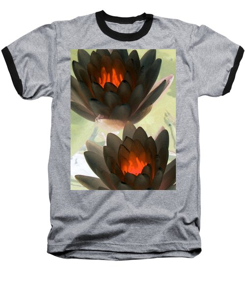 Baseball T-Shirt featuring the photograph The Water Lilies Collection - Photopower 1042 by Pamela Critchlow