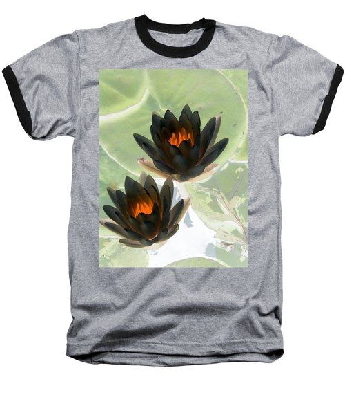 Baseball T-Shirt featuring the photograph The Water Lilies Collection - Photopower 1046 by Pamela Critchlow