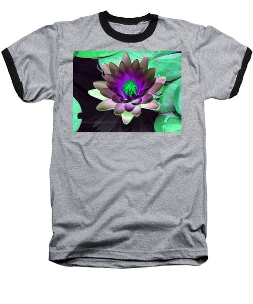 Baseball T-Shirt featuring the photograph The Water Lilies Collection - Photopower 1114 by Pamela Critchlow