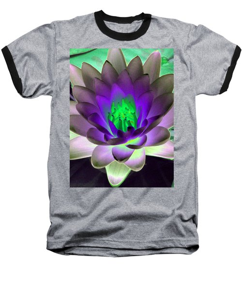 Baseball T-Shirt featuring the photograph The Water Lilies Collection - Photopower 1115 by Pamela Critchlow