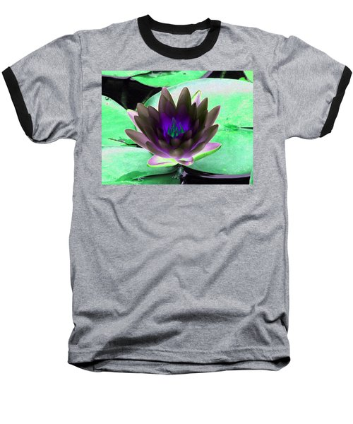 Baseball T-Shirt featuring the photograph The Water Lilies Collection - Photopower 1116 by Pamela Critchlow