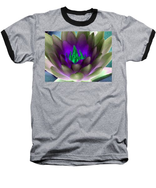 Baseball T-Shirt featuring the photograph The Water Lilies Collection - Photopower 1117 by Pamela Critchlow