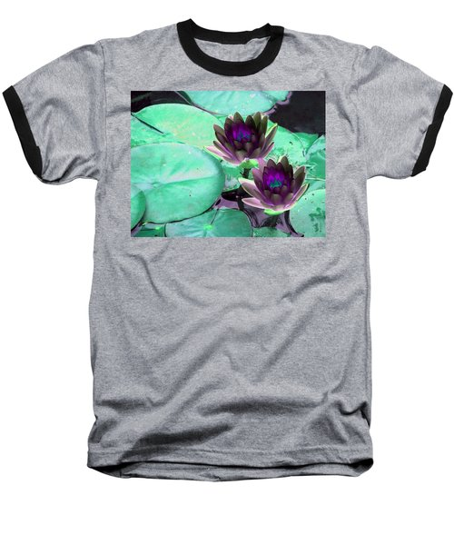 Baseball T-Shirt featuring the photograph The Water Lilies Collection - Photopower 1118 by Pamela Critchlow