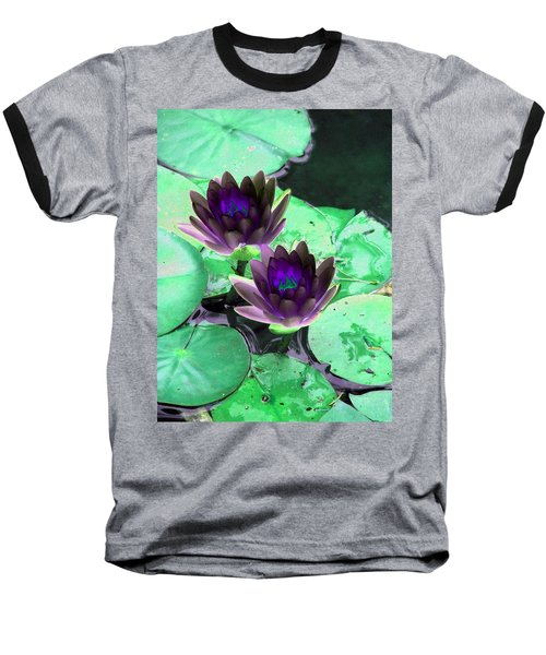Baseball T-Shirt featuring the photograph The Water Lilies Collection - Photopower 1119 by Pamela Critchlow