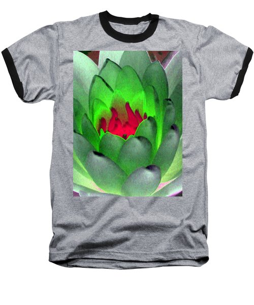 Baseball T-Shirt featuring the photograph The Water Lilies Collection - Photopower 1122 by Pamela Critchlow