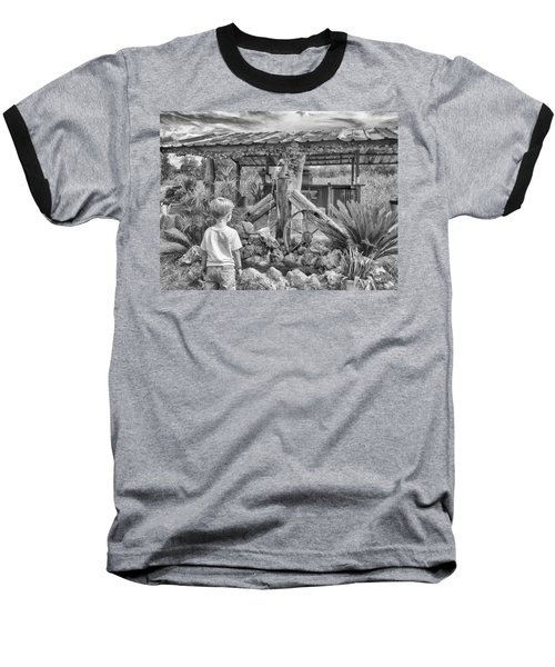 Baseball T-Shirt featuring the photograph The Watering Hole by Howard Salmon