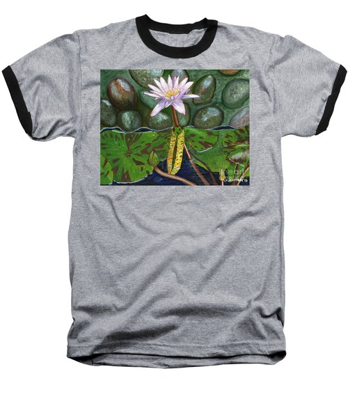 The Waterlily Baseball T-Shirt by Laura Forde