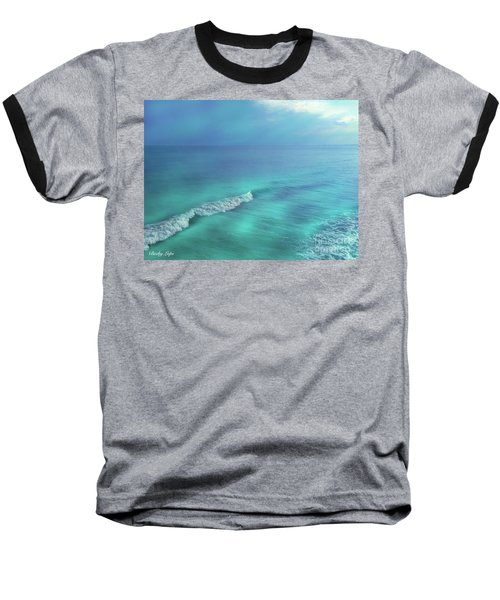 The Wave Baseball T-Shirt by Becky Lupe
