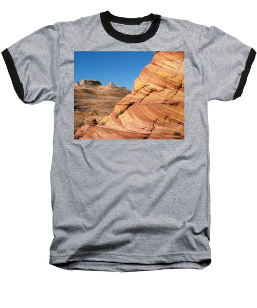 Baseball T-Shirt featuring the photograph 'the Wave' North Coyote Buttes 13 by Jeff Brunton