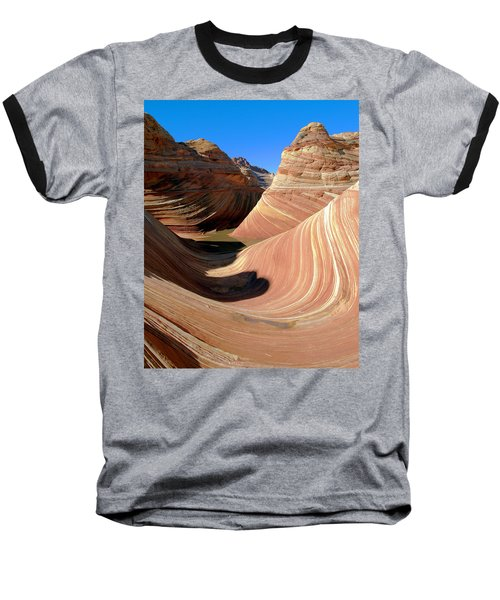 Baseball T-Shirt featuring the photograph 'the Wave' North Coyote Buttes 19 by Jeff Brunton