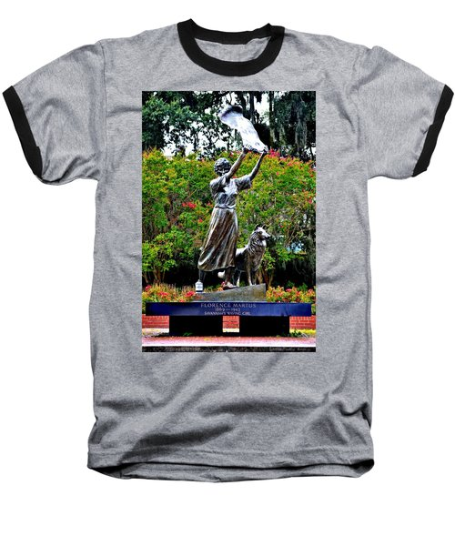 The Waving Girl Of Savannah Baseball T-Shirt