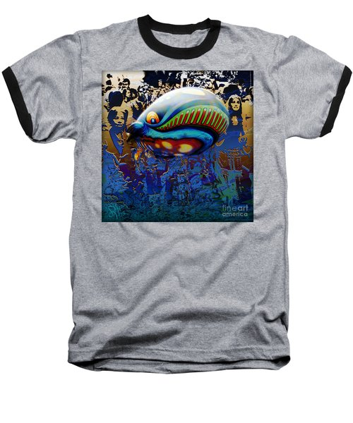 Baseball T-Shirt featuring the digital art The Whale Flight by Rosa Cobos