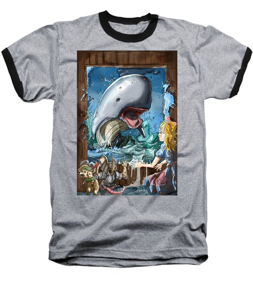 Baseball T-Shirt featuring the painting The Whale by Reynold Jay