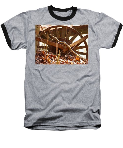 Baseball T-Shirt featuring the photograph The Wheel Of Planting by Nick Kirby