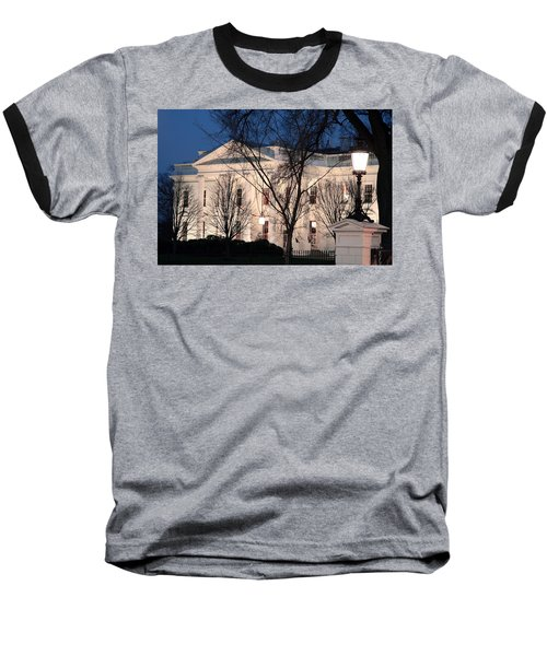Baseball T-Shirt featuring the photograph The White House At Dusk by Cora Wandel