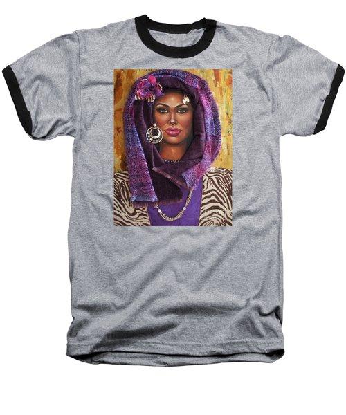 The Whole Story Behind Violet Baseball T-Shirt by Alga Washington