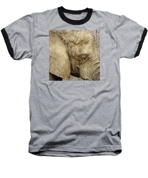 Baseball T-Shirt featuring the photograph The Wise Old Elephant by Nikki McInnes