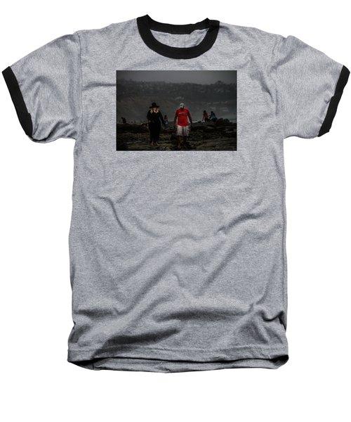 The Witch On The Beach Baseball T-Shirt by Menachem Ganon