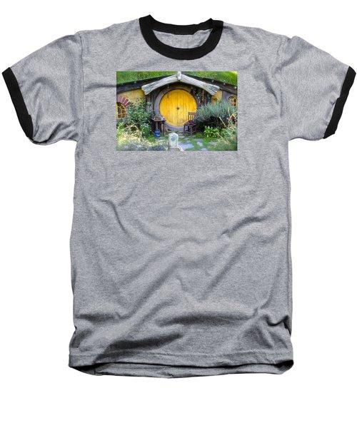 The Yellow Hobbit Door Baseball T-Shirt by Venetia Featherstone-Witty