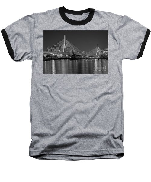 The Zakim Bridge Bw Baseball T-Shirt