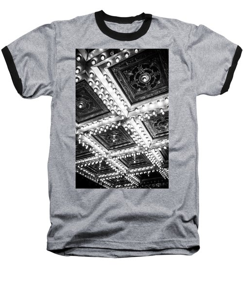 Theater Lights Baseball T-Shirt by Melinda Ledsome
