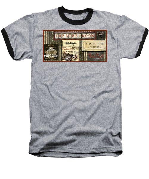 Theatre Room Baseball T-Shirt
