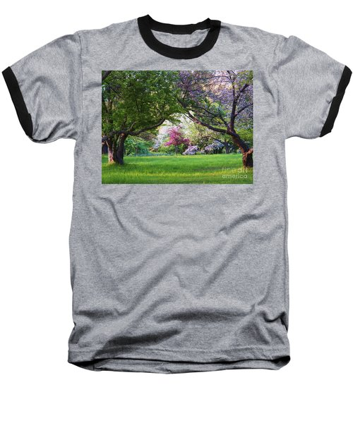 There Is No Place Like Spring Baseball T-Shirt by Judy Via-Wolff