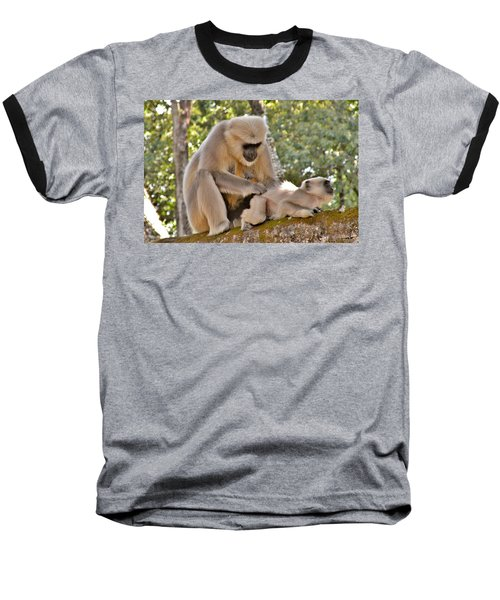 There Is Nothing Like A  Backscratch - Monkeys Rishikesh India Baseball T-Shirt