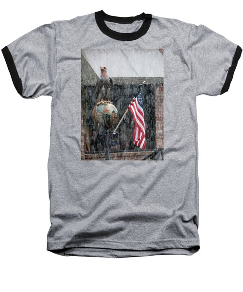 Baseball T-Shirt featuring the photograph These Colors Dont Run by John Glass