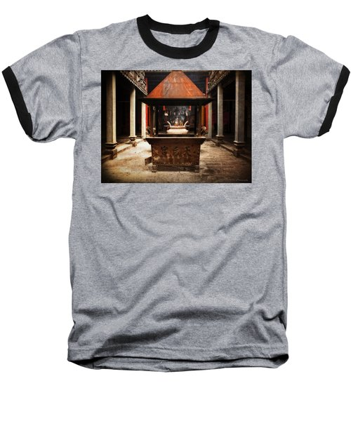 Baseball T-Shirt featuring the photograph Thien Hau Temple  by Lucinda Walter
