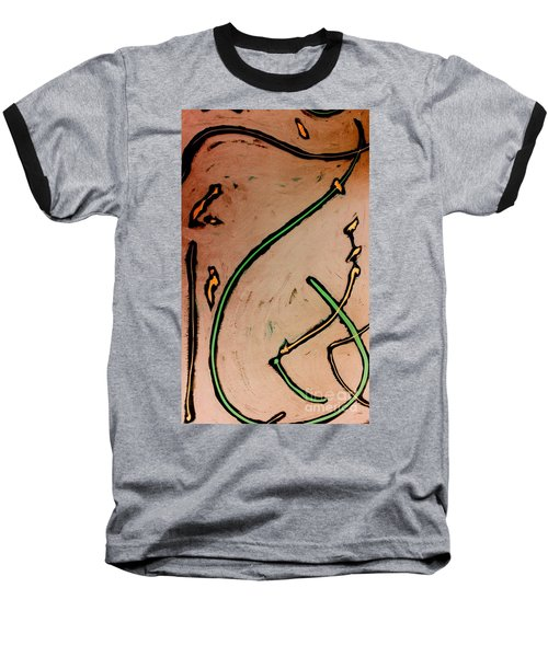Baseball T-Shirt featuring the painting Thirteen by Jacqueline McReynolds