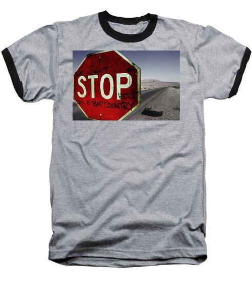 This Is Bat Country Baseball T-Shirt by Nicklas Gustafsson