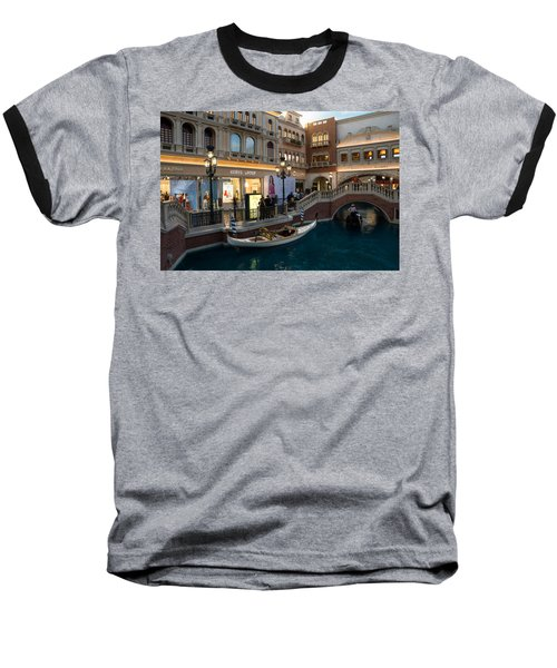 It's Not Venice - The White Wedding Gondola Baseball T-Shirt