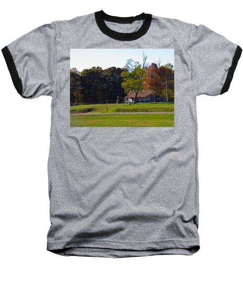 Baseball T-Shirt featuring the photograph This Old House by Nick Kirby