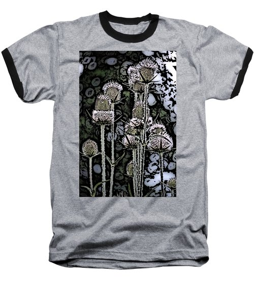 Baseball T-Shirt featuring the digital art Thistle  by David Lane