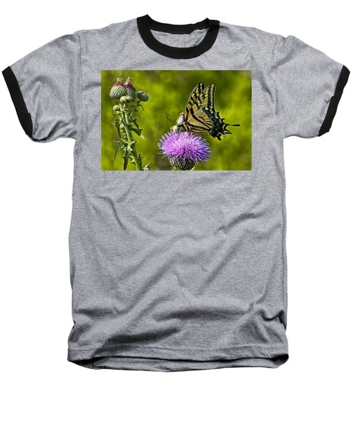 Baseball T-Shirt featuring the photograph Thistle Do Just Fine by Gary Holmes