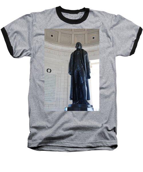 Thomas Jefferson Statue Baseball T-Shirt