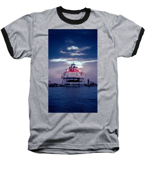 Thomas Pt.  Shoal Lighthouse Baseball T-Shirt