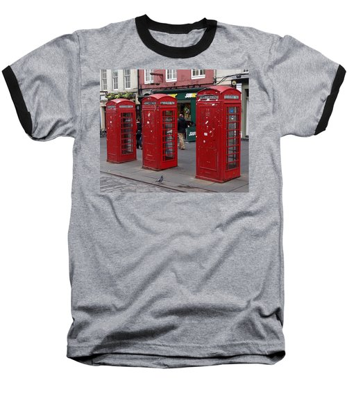 Those Red Telephone Booths Baseball T-Shirt