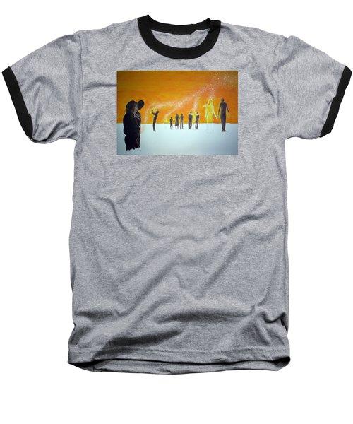 Those Who Left Early Baseball T-Shirt by Lazaro Hurtado