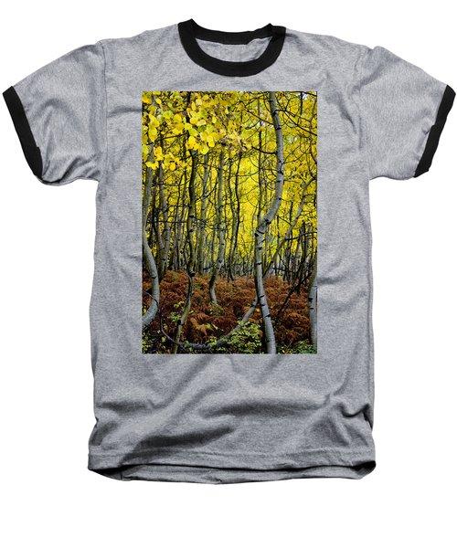 Baseball T-Shirt featuring the photograph Through The Aspen Forest by Ellen Heaverlo