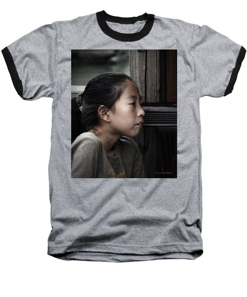 Baseball T-Shirt featuring the photograph Thoughts by Lucinda Walter