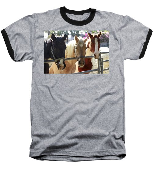 Three Amigos Baseball T-Shirt by Shoal Hollingsworth